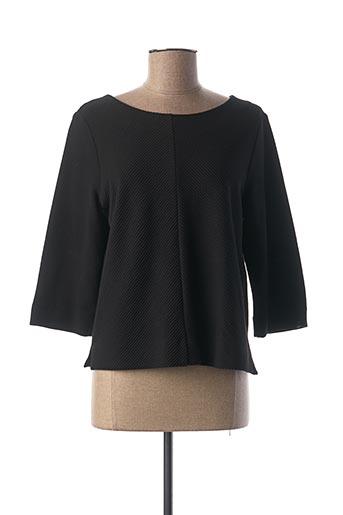 T-shirt manches longues noir BIANCA pour femme
