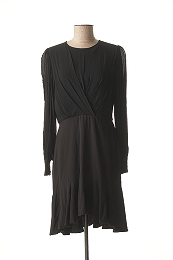 Robe mi-longue noir SUNCOO pour femme