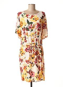 Robe mi-longue rose ICHI pour femme