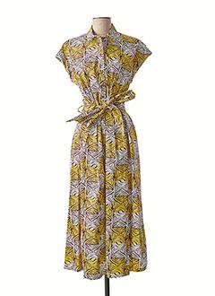 Robe longue jaune MARIA BELLENTANI pour femme