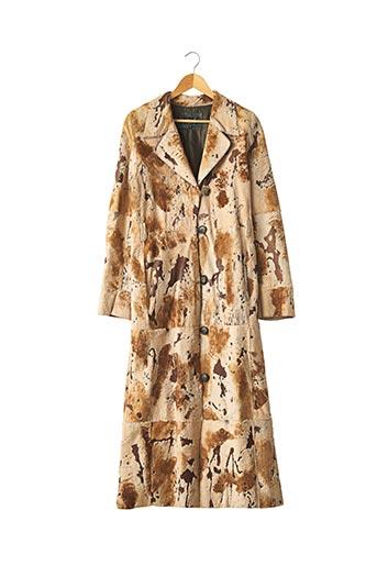 Manteau long beige ARTURO pour femme