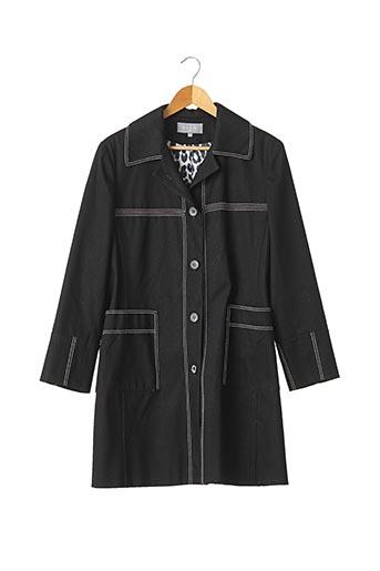 Manteau long bleu FRANCESCO FERRI pour femme