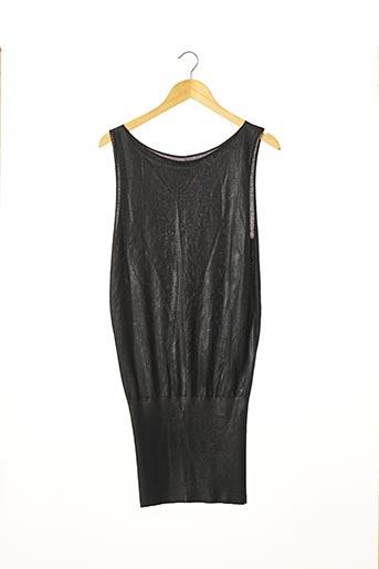 Pull tunique noir LEETHA pour femme
