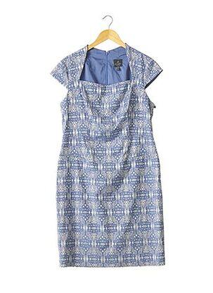 Robe mi-longue bleu ADRIANNA PAPELL pour femme