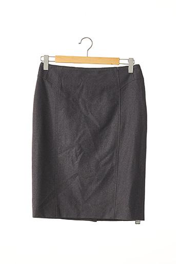 Jupe mi-longue gris BERTEIL pour femme