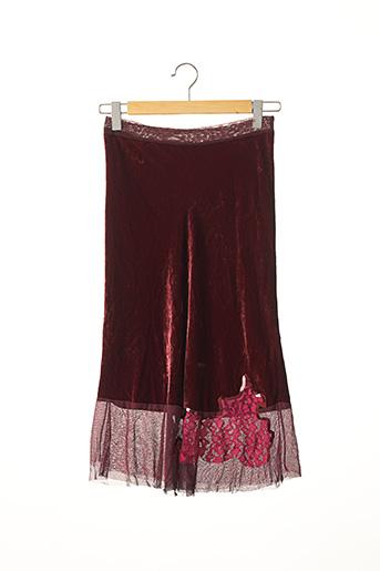 Jupe mi-longue rouge PINKO pour femme