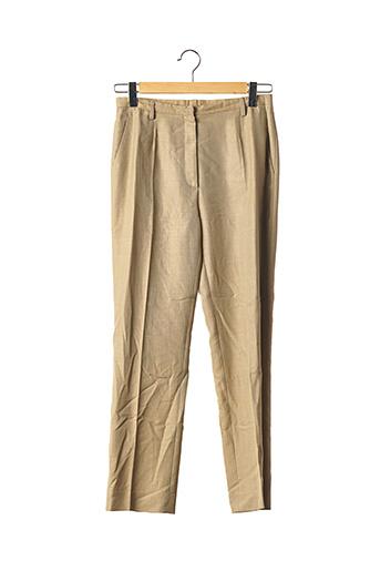 Pantalon chic beige AXXON MARCUS pour femme