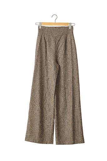 Pantalon casual marron PETROVITCH & ROBINSON pour femme