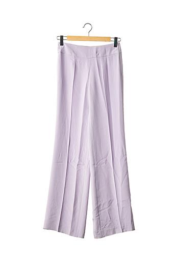 Pantalon casual violet JEAN-LOUIS SCHERRER pour femme