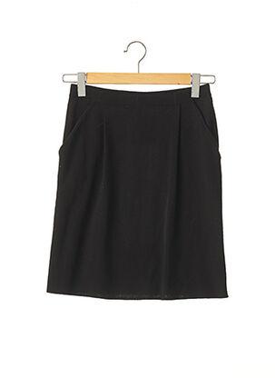 Jupe mi-longue noir CARINE pour femme