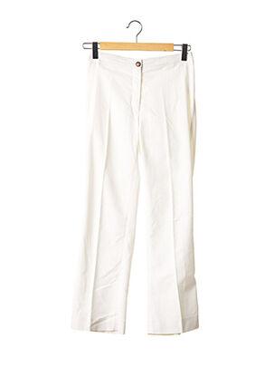Pantalon casual blanc APOSTROPHE pour femme
