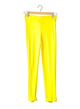 Pantalon casual jaune DIDIER PARAKIAN pour femme