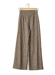 Pantalon casual marron PETROVITCH & ROBINSON pour femme seconde vue