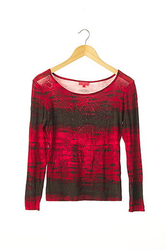 T-shirt manches longues rouge CHACOK pour femme
