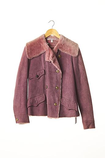 Manteau court rose UNGARO FUCHSIA pour femme