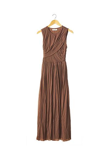 Robe longue marron CHLOE pour femme