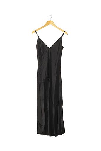 Robe mi-longue noir FRAME pour femme