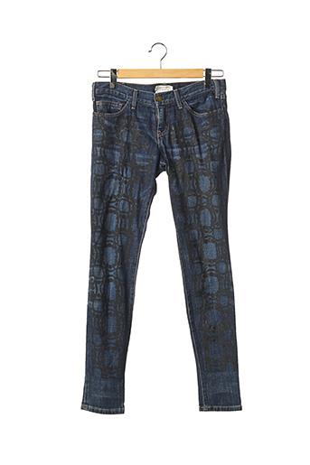Jeans coupe slim bleu CURRENTE/ELLIOTT pour femme