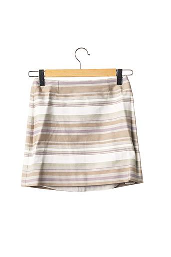 Jupe courte beige CELINE pour femme