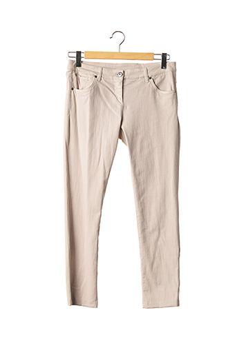 Pantalon 7/8 beige BRUNELLO CUCINELLI pour femme