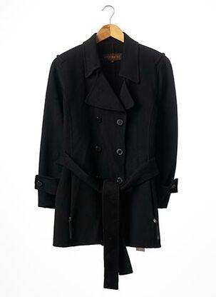 Manteau long noir APOSTROPHE pour femme