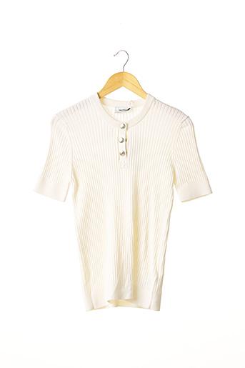 Pull col rond beige COURREGES pour femme