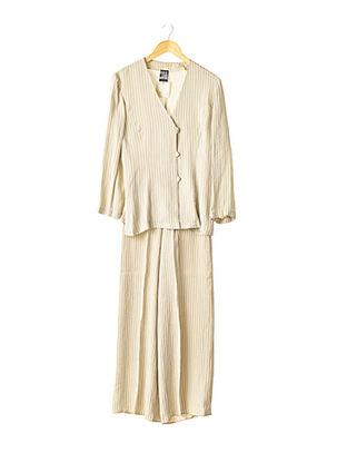Veste/pantalon beige STATE OF CLAUDE MONTANA pour femme
