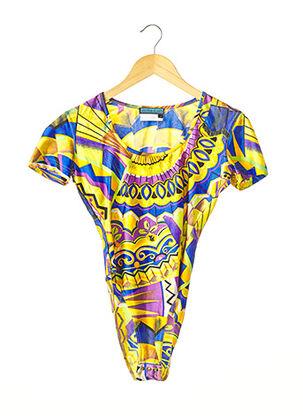 Body jaune SPAZIO pour femme