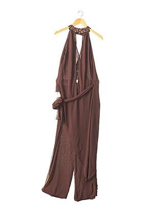 Veste/pantalon marron ZINAS pour femme