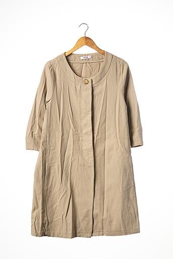 Manteau long beige COMPTOIR DES COTONNIERS pour femme