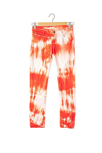 Pantalon casual orange ACQUAVERDE pour femme