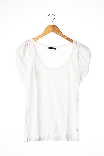 T-shirt manches courtes blanc ET VOUS pour femme