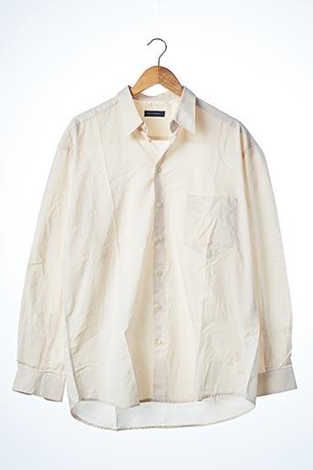 Chemise manches longues beige ADOLFO DOMINGUEZ pour homme