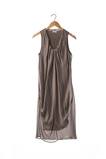 Robe mi-longue gris BRUNELLO CUCINELLI pour femme