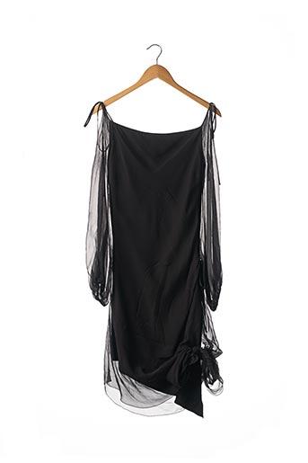 Robe mi-longue noir BALMAIN pour femme