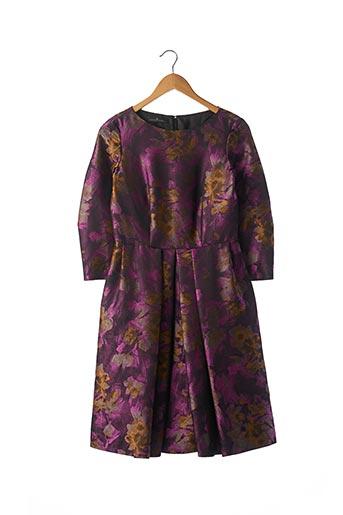 Robe mi-longue violet CAROLINA HERRERA pour femme