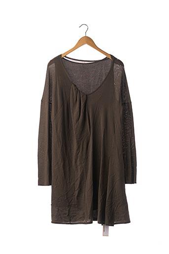 Robe pull marron CHLOE pour femme