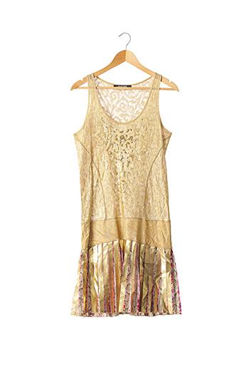 Robe mi-longue beige CAVALLI pour femme