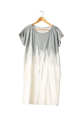 Robe mi-longue gris FABIANA FILIPPI pour femme