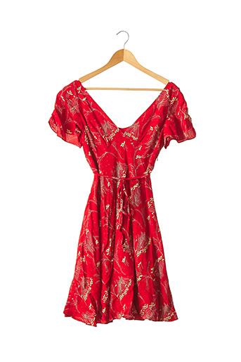 Robe mi-longue rouge COLLETTE pour femme
