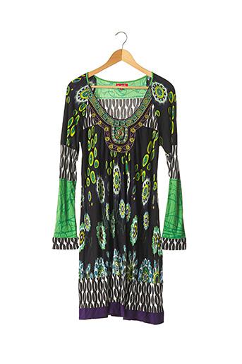 Robe mi-longue vert DERHY pour femme