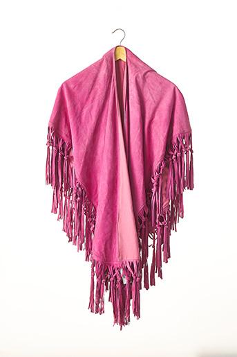 Poncho rose SANS MARQUE pour femme