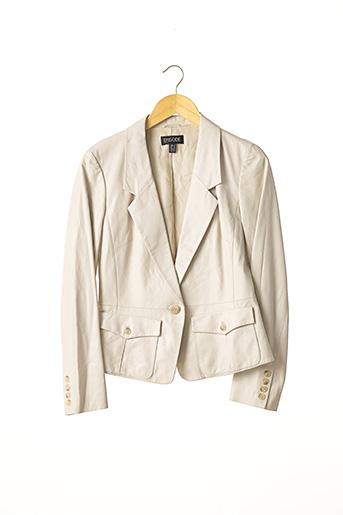 Veste en cuir beige EPISODE pour femme