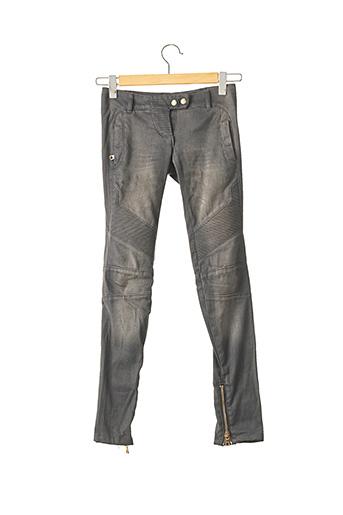 Jeans coupe slim gris BALMAIN pour femme