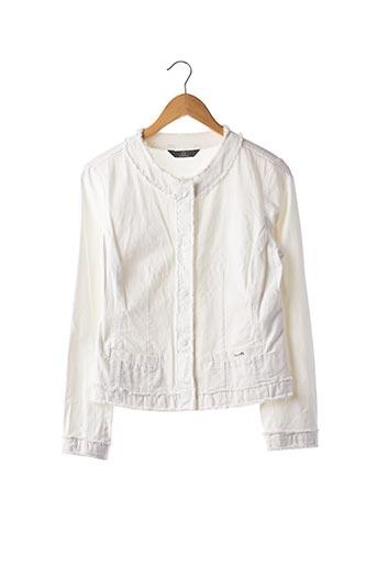 Veste casual blanc DISMERO pour femme