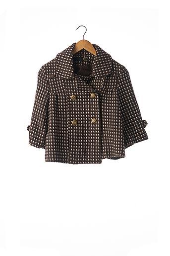 Manteau court marron CHERRY pour femme