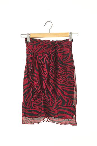Jupe mi-longue rouge BA&SH pour femme