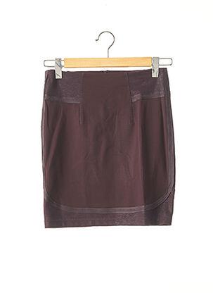 Jupe courte marron HUGO BOSS pour femme
