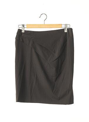 Jupe mi-longue marron HUGO BOSS pour femme
