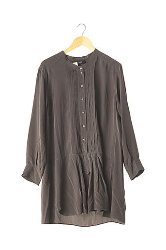 Robe courte gris ISABEL MARANT pour femme